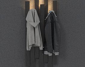 SKI CLOTHES STAND 3D model