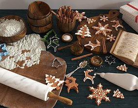 3D model Cooking Christmas Gingerbread Cookies