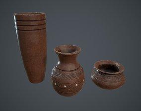 Clay Pot Jug and Vase 3D asset