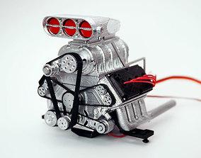 DD 18 RC DOHC V8 engine 3D printable model 3d