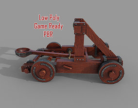 Medieval Catapult 3D model realtime