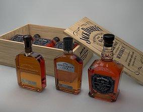 3 Jack Daniels Bottles 3D model jack
