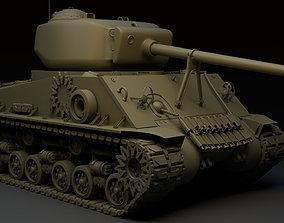 M4A3E8 Sherman Tank 3D