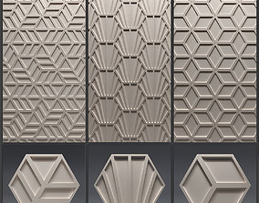 Gypsum 3D panel set 8 stucco