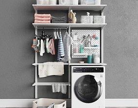 IKEA wall-mounted module Algot 12 washing machine 3D