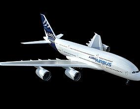 Airbus A380 3D model logistic