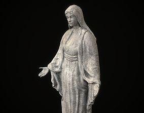 3D asset Saint Maria Statue PBR Low Poly