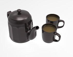 3D model mug Tea set
