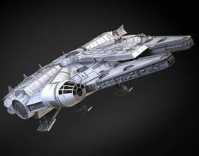 3D StarWars Millennium Falcon with Interior