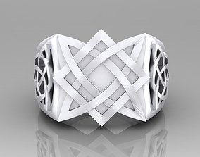 ring with binding pattern 3D printable model