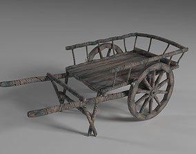Ancient Wooden Cart 3D asset