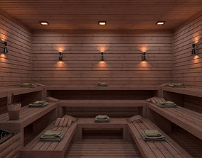Sauna 3D Model Vray Settings realtime
