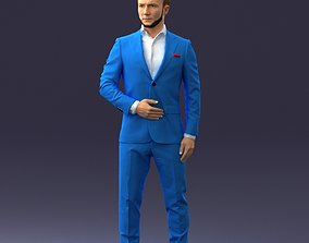 man in blue suit 0905 3dprint sculpture