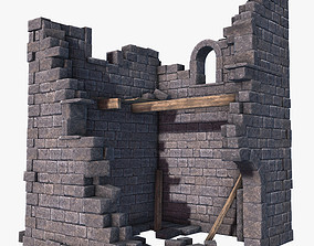 Ruined Tower 2 3D model