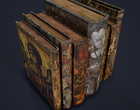 3D model Medieval Books Row 3 Design 3