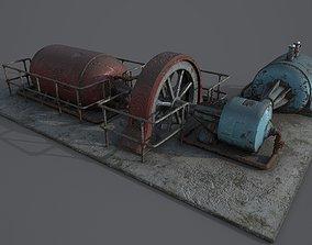3D model low-poly Diesel generator