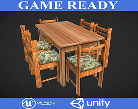Tables and Chairs 2 3D asset