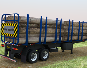 3D model logistics Trailer-semitrailer