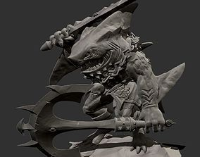 sharkman 3D print model