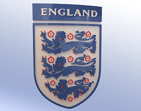 3D asset England Football Shield Emblem Logo