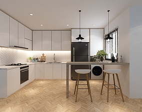 3D model Kitchen counter