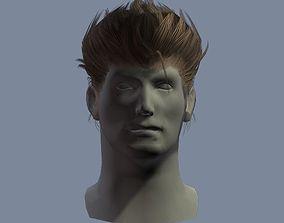3D asset hair man 2