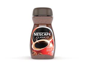 Nescafe Clasico Dark Roast Instant Coffee 3D