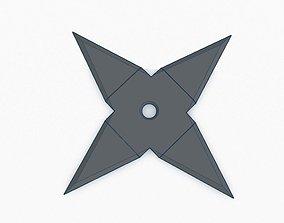 Ninja Star v2 - 4 point 3D print model