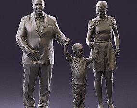 001029 family fat man happy boy woman 3D Print