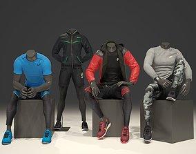 Man mannequin Nike pack 2 3D