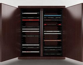 3D model 40 Disc CD Cabinet case