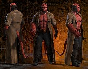 3D model rigged Hellboy