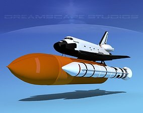 STS Shuttle Discovery Launch LP1-4 3D