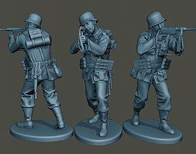 German soldier ww2 Shoot Stand G2 3D printable model