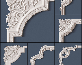 3D model 10 Molding Corners Collection