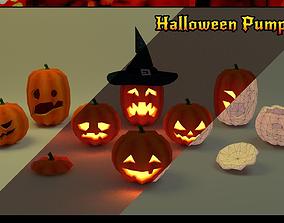 Halloween pumpkins pack 3D model