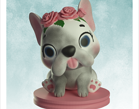 3D printable model Puppy with flowers - Vase