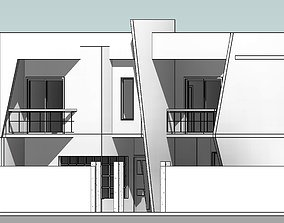 3D Modern House with plans 130 sq m