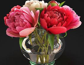 3D Flowers Peonies