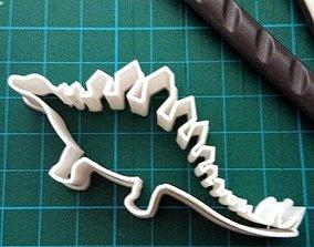 Dino Stegosaurus cookie cutter 3D printable model
