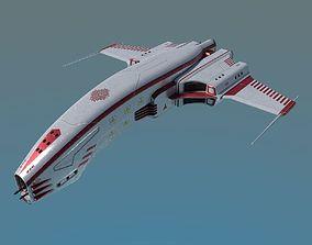 3D model Spaceship Dagger Type 1 White
