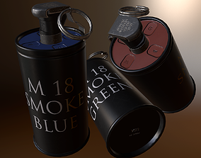 M18 Smoke Grenade 3D asset