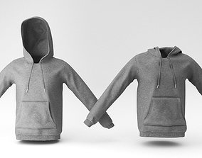 fashion sweat hoodie 3D model