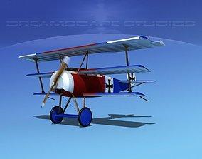 3D Fokker DR-1 Triplane V06
