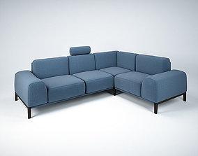 3D model Sofa with headrest by Trendmanufaktur