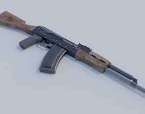 3D model PBR Gameready AK 74 Kalashnikov assault rifle