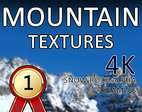 4K-Seamless Snow Rock Mountain 3D model