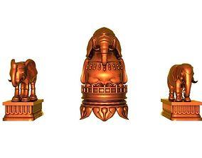Three elephants 3D model
