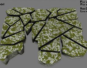 desert 3D asset realtime stone set