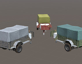 low-poly Car Trailer for Unity3D